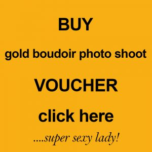 gold boudoir photo shoot voucher by Harrison Lord Photography