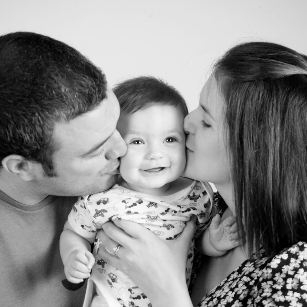 Baby with parents photography