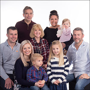 large family portraits by Harrison Lord photographers